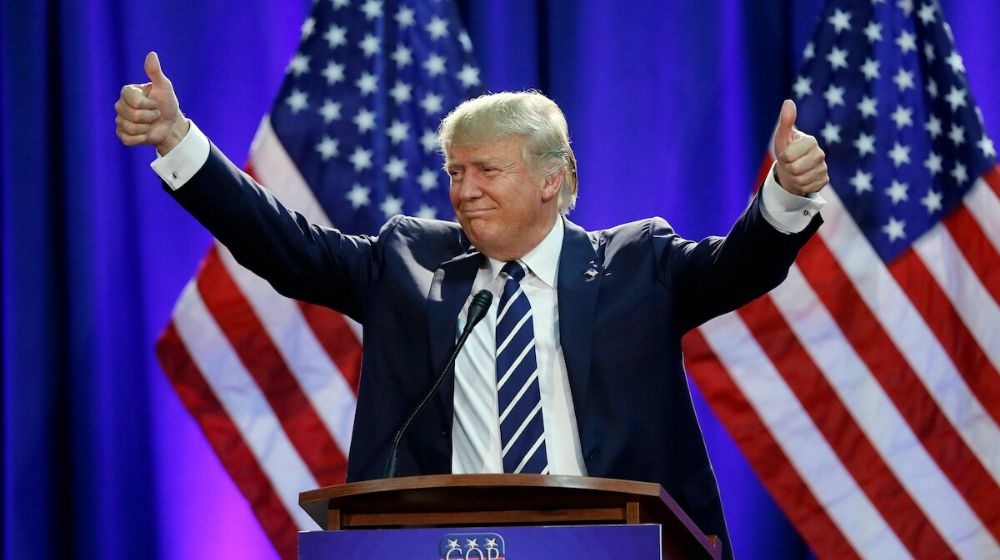 Donald Trump Two thumbsup | Here Are The 10 Best Things Trump Did in 2019 | Featured