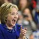 """Hillary cheers 