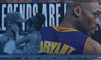 Kobe and Gigi Bryant wall artwork | Kobe Bryant Petition to Change NBA Logo to Late NBA Legend Receives More than 1 Million Signatures | Featured