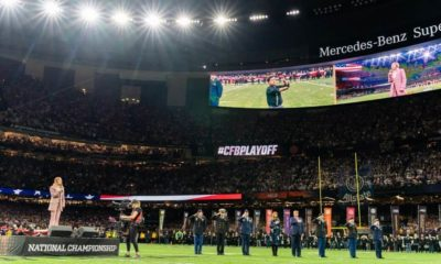 President Trump and First Lady Melania Trump attending National Football championship | 'Teacher of the Year' Kneels During Anthem at College Football Championship | Featured