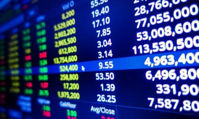 Stock exchange screen | stock exchange market graph on LED screen | Featured
