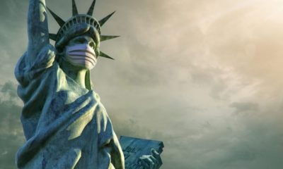 Statue of Liberty wearing medical mask | U.S. Is the Third-Highest Nation Infected by the Coronavirus; Cases Surpass 35,000 | Featured