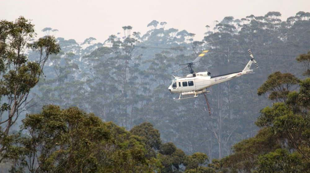 helicopter water bombing in Australia fire | AUSTRALIA FIRES: Crews Airdrop Vegetables to Feed Starving Wildlife | Featured