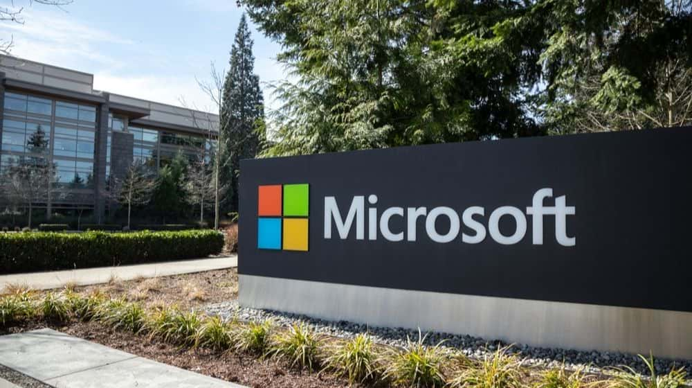 Microsoft Sign at The Headquarters | Microsoft Announces Closing of All Physical Stores | Featured