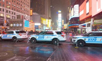 NYPD Cars in Manhattan at Night | NYPD Officers Taken to Hospital After Drinking Milkshakes with Unfamiliar Taste; Later Determined No Criminality | Featured