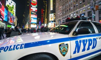 NYPD Police Car Stands Parked in Times Square | Man Who Punched NYPD Officers Has Been Released Without Bail | Featured