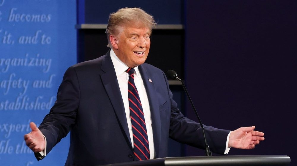 """President Donald Trump Participates in the 2020 First Presidential Debate 