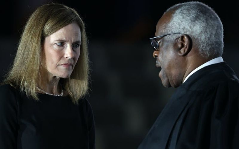 Judge Amy Coney Barrett Talks with Supreme Court Associate Justice Clarence Thomas | Biden Wins – Experts On What This Means For America