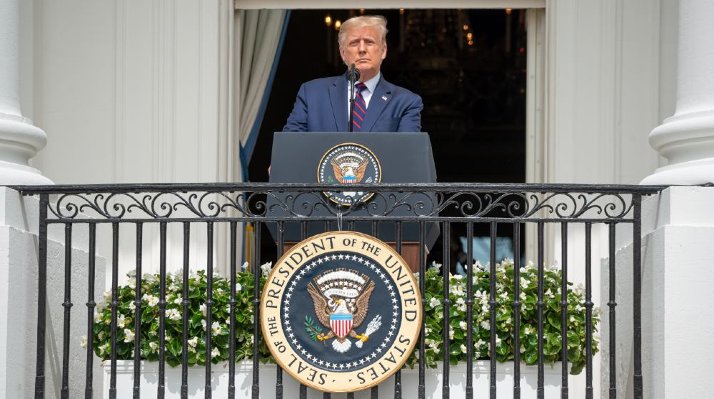 President Donald Trump speaks during in the signing ceremony of the Abraham Accords between Israel UAE and Bahrain-Lawsuits against Trump-ss-featured