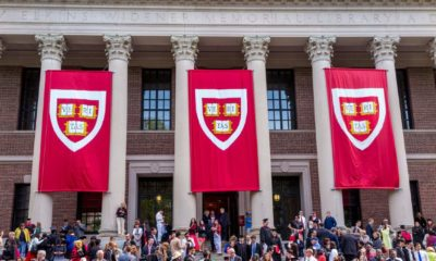 Students of Harvard University gather for their graduation ceremonies on Commencement Day-Ban Trump Officials from Harvard-ss-featured