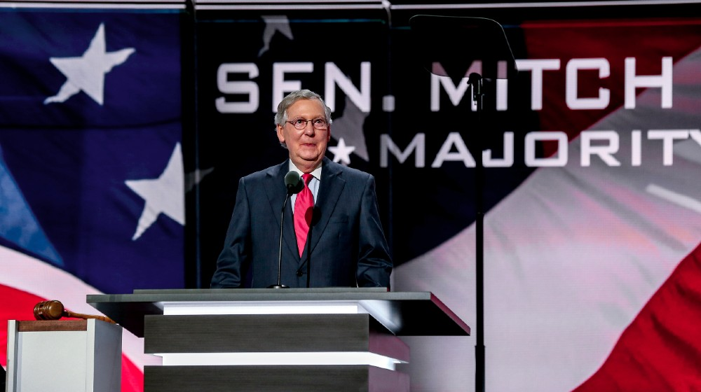 Senator Mitch McConnell (R-KY) addresses the Republican National Convention at the Quicken Arena in Cleveland-McConnell Warns GOP-ss-featured