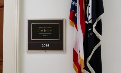 Sign at the entrance of Jim Jordan's office-Trump Gives Medal of Freedom to House Ally Jim Jordan-ss-Featured