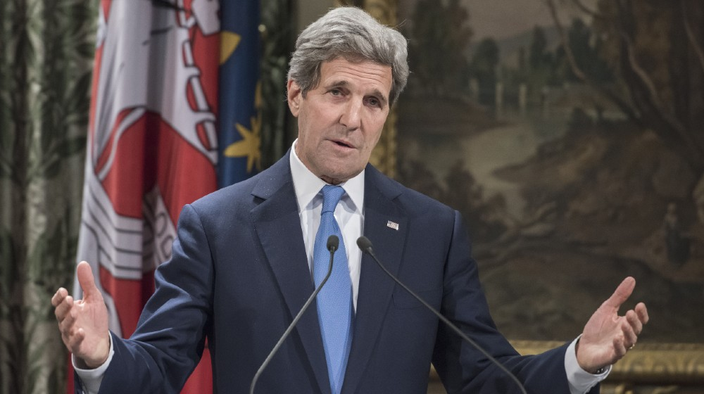 United States Secretary John Kerry when he came to Paris to pay tribute to the victims of terrorist attack against charlie hebdo-John Kerry Took A Private Jet-ss-featured