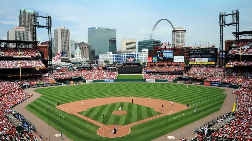 Busch stadium during the 2009 MLB All Star Game-Senseless 'Woke' Movement MLB All-Star Game Moved to Colorado with Similar Voting Laws-ss-Featured