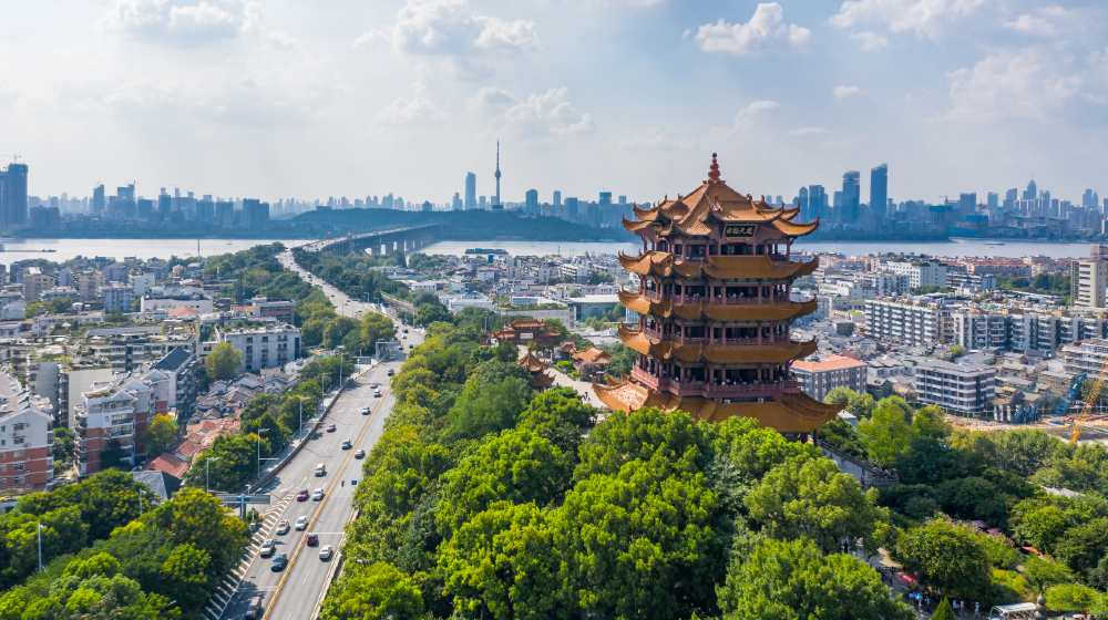Aerial view of Wuhan city .Panoramic skyline and buildings beside yangtze river | Wuhan Lab Staff Sought Treatment In November 2019 | Featured