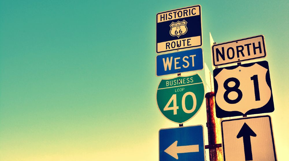 Route 66 road signs on Oklahoma, US | Oklahoma Renames Road To Donald J. Trump Highway | Featured