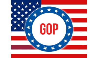 United States of America flag waving in the wind. Voting, Freedom Democracy, gop concept | GOP Outpaces Dems In Fundraising, House Chances Look Good | featured