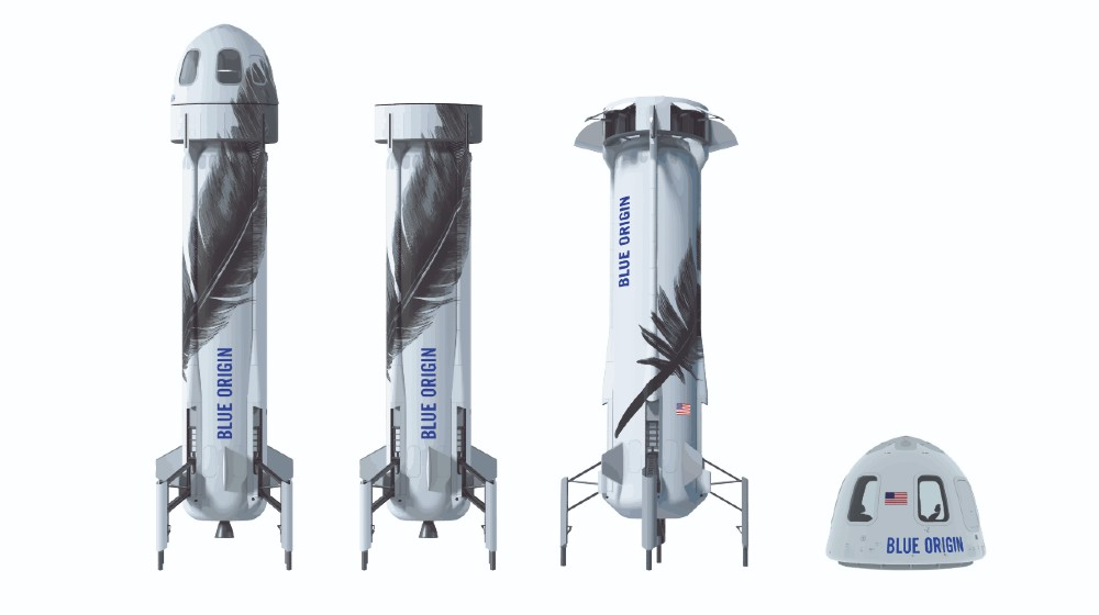 Jeff Bezos spacecraft, BLUE ORIGIN, A set of modern spacecraft   Bezos Thanks Amazon Workers for Paying for His Space Flight   featured