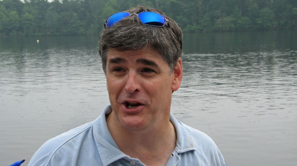 Radio host and Fox news star Sean Hannity in recent photos before his freedom rally | Hannity, Fox News Hosts Urge Americans To Get Vaccinated | featured