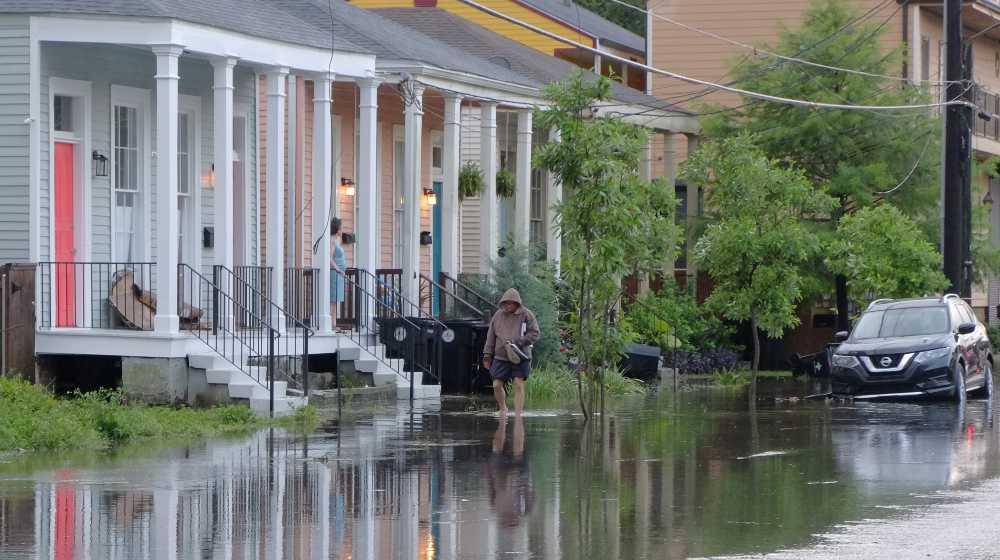street flooding in Central City New Orleans | New Orleans Avoids Major Floods Despite Hurricane Ida | featured