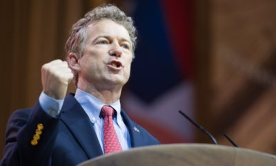 Senator Rand Paul (R-KY) speaks at the Conservative Political Action Conference (CPAC) | Sen. Rand Paul Shows Proof That Fauci Lied About Wuhan | featured