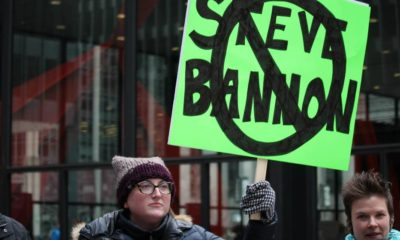 Thousands of protesters fill Chicago streets November 19, 2016, in continuing protest against President-elect Trump and picks to form his administration | House Panel Recommends Contempt Charges on Steve Bannon | featured